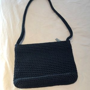 Black small crochet SAK bag